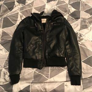 Ashley faux leather bomber jacket small EUC
